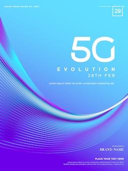 Abstrakcyjne tło 5g, technologia sieci 5g