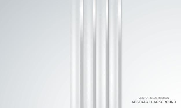 Abstrakcyjne tło białe ze srebrnymi liniami nowoczesny design