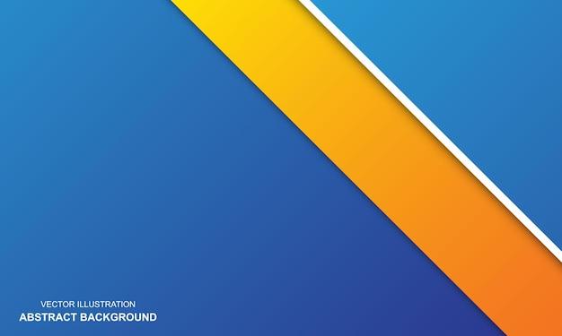 Abstrakcyjne tło biały biały pomarańczowy i niebieski kolor