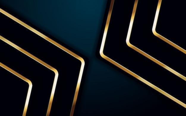 Abstrakcyjne tło ciemna czerń ze złotym prostym nowoczesnym minimalnym.
