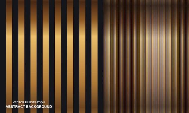 Abstrakcyjne tło czarne ze złotymi liniami nowoczesne