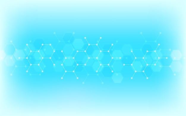 Abstrakcyjne tło cząsteczek
