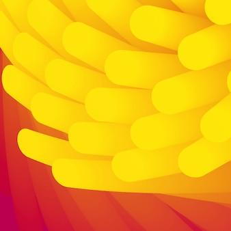 Abstrakcyjne tło. element tła w perspektywie zawirowania. tapeta z gładką rurką gradientową. żółto-różowe kosmki struktury w stylu medycyny.