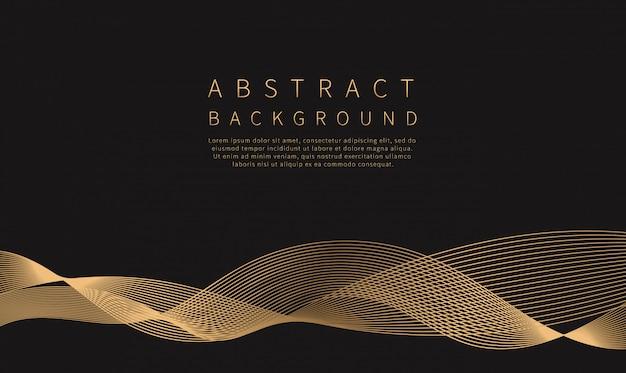 Abstrakcyjne tło. fala złotej linii.