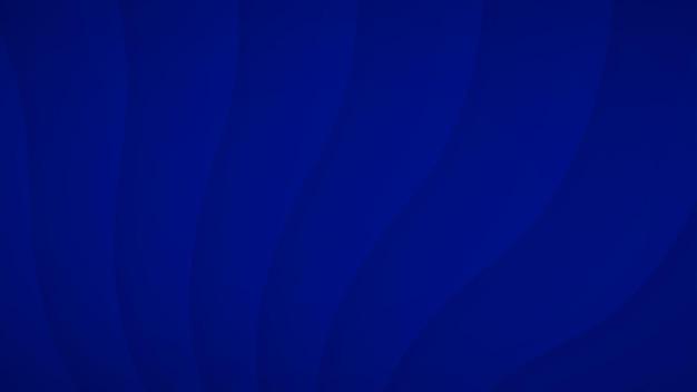 Abstrakcyjne tło falistych zakrzywionych pasków z cieniami w niebieskich kolorach