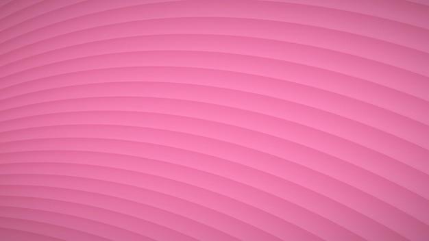 Abstrakcyjne tło falistych zakrzywionych pasków z cieniami w różowych kolorach