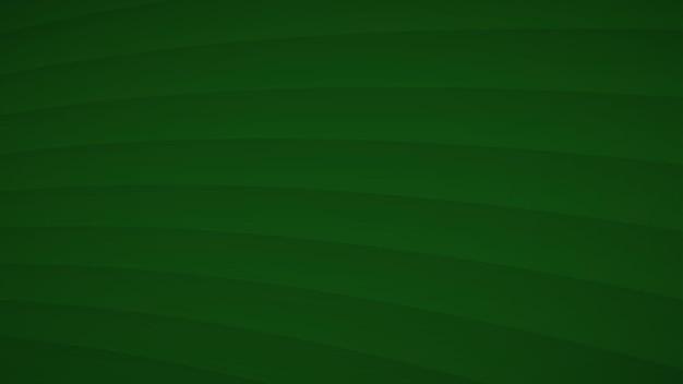 Abstrakcyjne tło falistych zakrzywionych pasków z cieniami w zielonych kolorach