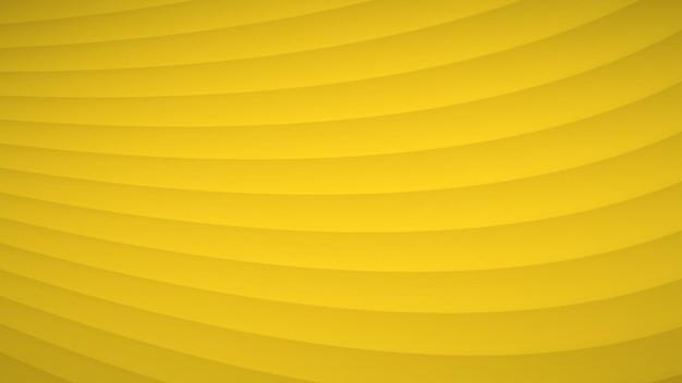 Abstrakcyjne tło falistych zakrzywionych pasków z cieniami w żółtych kolorach