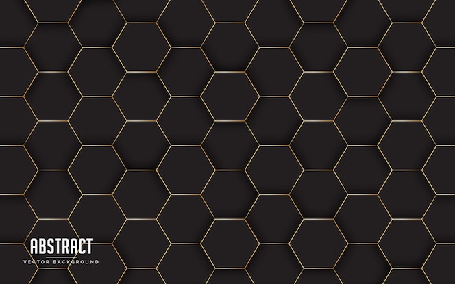 Abstrakcyjne tło geometryczne kolorem czarnym i złotym