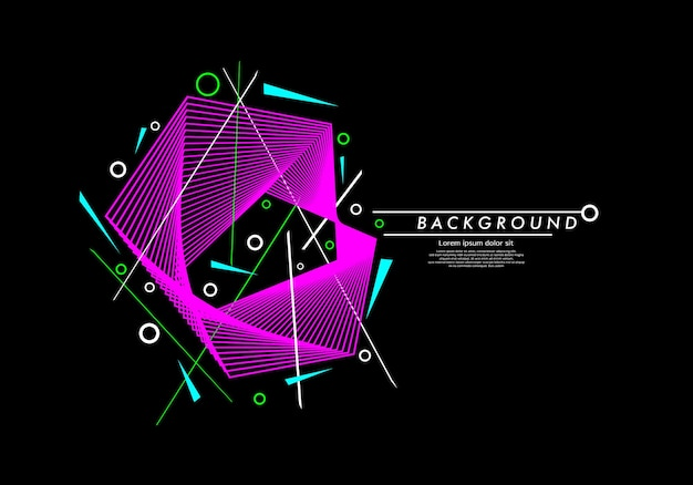 Abstrakcyjne tło geometryczne linii z okręgami i liniami w minimalistycznym stylu