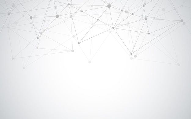 Abstrakcyjne tło geometryczne z łączącymi kropki i linie