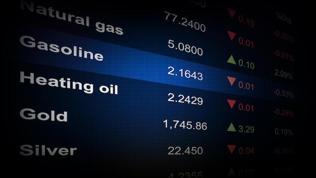Abstrakcyjne tło giełdy towar tabela wskaźników cen ekonomicznych