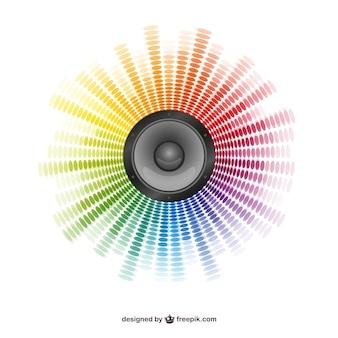 Abstrakcyjne tło głośnika