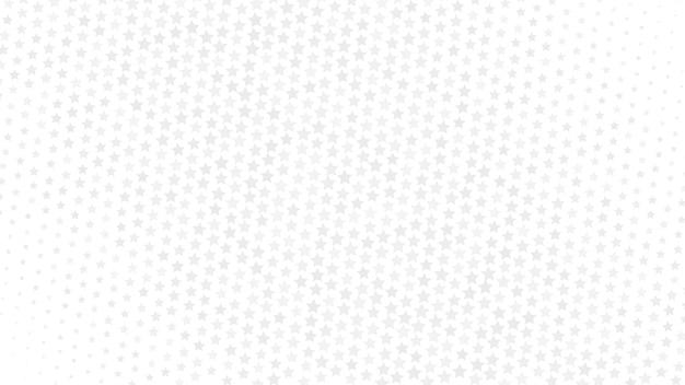 Abstrakcyjne tło gradientowe półtonów małych gwiazd, szare na białym