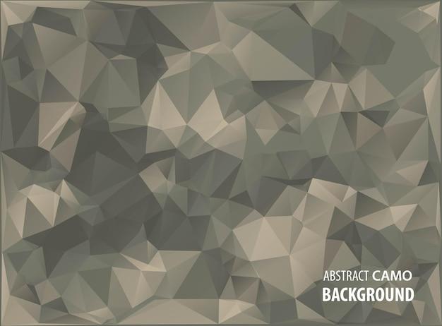 Abstrakcyjne tło kamuflażu wojskowego wykonane z geometrycznych kształtów trójkątów camo