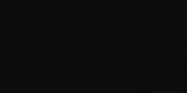 Abstrakcyjne tło koncentrycznych trójkątów w czarnych kolorach