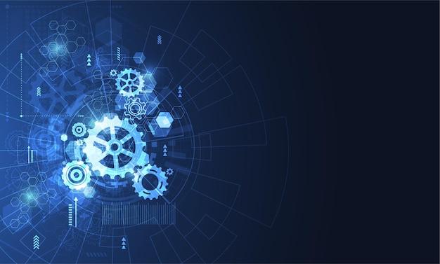 Abstrakcyjne Tło Koncepcji Technologii Premium Wektorów