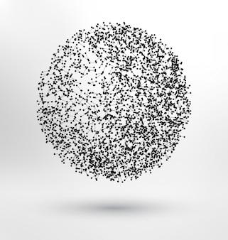 Abstrakcyjne tło kuli