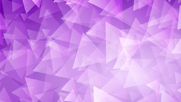 Abstrakcyjne tło małych trójkątów w fioletowych kolorach