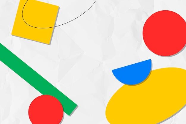 Abstrakcyjne tło memphis, kolorowe geometryczne kształty wektorowe
