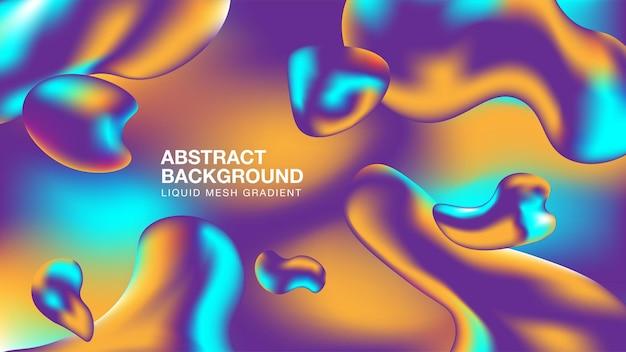 Abstrakcyjne tło mesh gradient niebieski pomarańczowy i fioletowy gradient