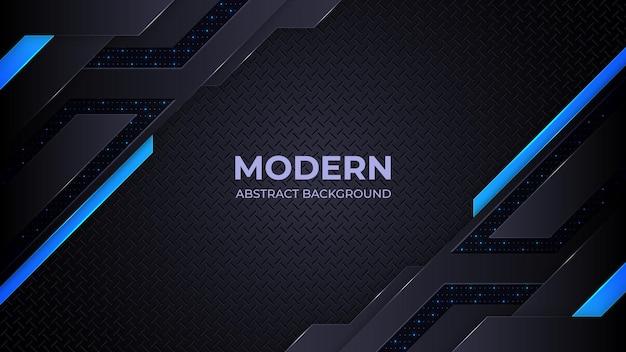 Abstrakcyjne tło nowoczesne niebieskie i czarne kształty geometrii
