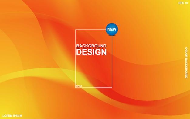 Abstrakcyjne tło płynnego motywu z pomarańczowym kolorem sunsite. nowoczesny minimalny eps 10