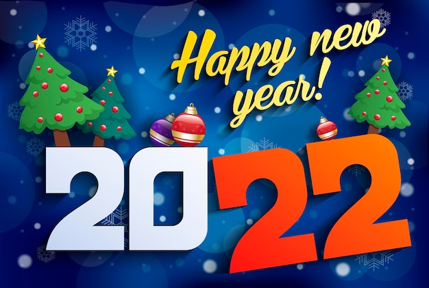 Abstrakcyjne tło poświęcone nowemu rokowi 2022 wektor nowoczesnej minimalistycznej karty szczęśliwego nowego roku...