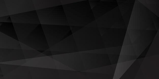 Abstrakcyjne tło przecinających się linii i wielokątów w czarnych kolorach