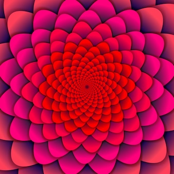 Abstrakcyjne tło. różowy kwiat spirali. streszczenie kwiat lotosu. ezoteryczny symbol mandali.