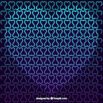 Abstrakcyjne tło serca w niebieskich kolorach