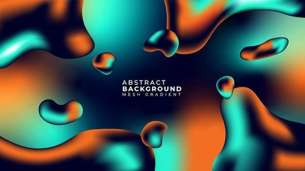 Abstrakcyjne tło siatki gradientu. niebieski pomarańczowy i ciemnoniebieski gradient