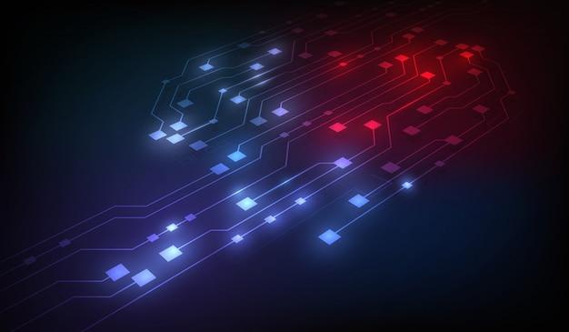 Abstrakcyjne tło sieci blockchain obwodu