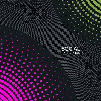Abstrakcyjne tło społeczne 2019