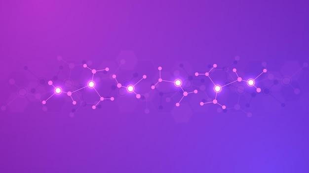 Abstrakcyjne tło struktur molekularnych