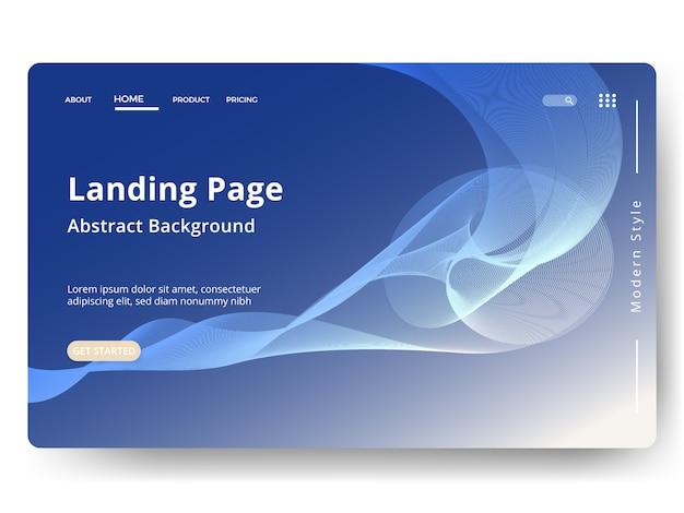 Abstrakcyjne tło . szablon strony docelowej. strona internetowa do tworzenia witryn i urządzeń mobilnych.