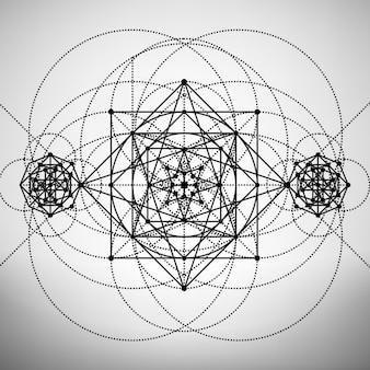 Abstrakcyjne tło szablon z świętej geometrii rysunku