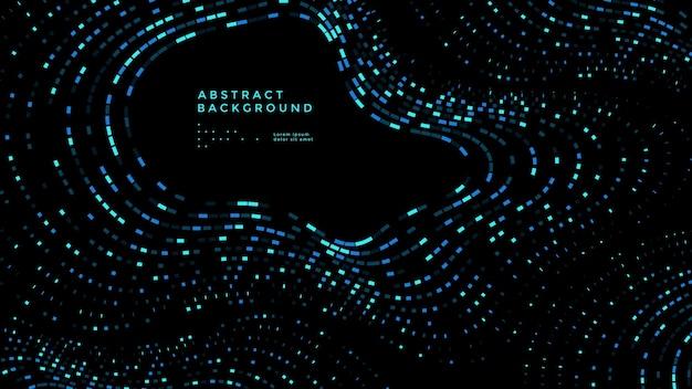 Abstrakcyjne tło technologii danych nowoczesny kolorowy plakat z falą mozaiki wektor projektu okładki