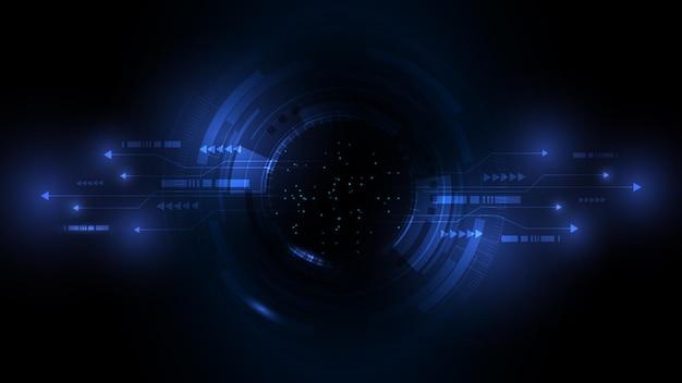 Abstrakcyjne tło technologii hi tech digital connect