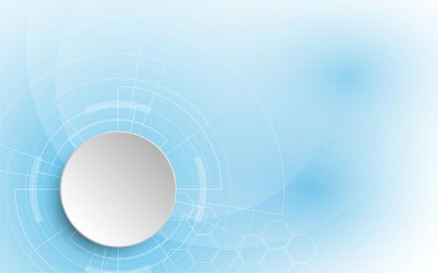 Abstrakcyjne tło technologii hi-tech komunikacja koncepcja tło innowacji