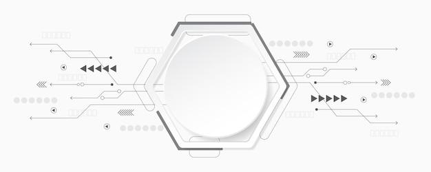 Abstrakcyjne tło technologii ilustracja koncepcja komunikacji hitech innowacji backgroundsci