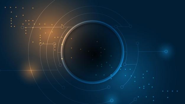 Abstrakcyjne tło technologii ilustracja koncepcja komunikacji hitech innowacji w tle