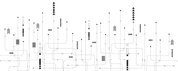 Abstrakcyjne tło technologii ilustracja koncepcja komunikacji hitech tło innowacji