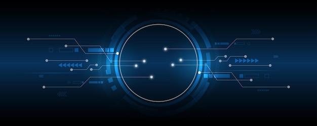 Abstrakcyjne tło technologii ilustracjakoncepcja komunikacji hitech innowacje tłonauka i technologia cyfrowe niebieskie tło