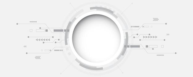 Abstrakcyjne tło technologii ilustracjakoncepcja komunikacji hitech innowacje tłonauka i technologia cyfrowe tło