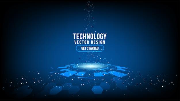 Abstrakcyjne tło technologii koncepcja komunikacji hitech technologia cyfrowa firma