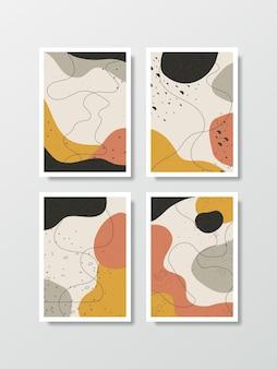 Abstrakcyjne tło wektor w stylu artystycznym ułożone jako zestaw