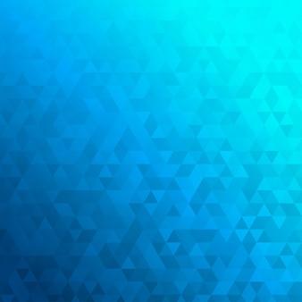 Abstrakcyjne tło wykonane z małych niebieskich trójkątów