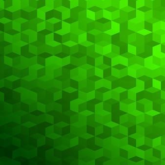 Abstrakcyjne tło wykonane z małych zielonych kostek