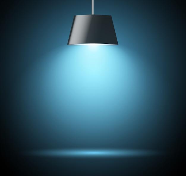 Abstrakcyjne tło z dodatkowym światłem w kolorze niebieskim